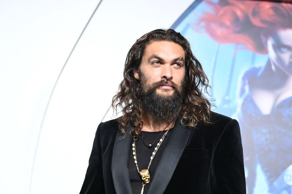 LOS ANGELES, CA - DECEMBER 12: Jason Momoa arrives at the premiere of Warner Bros. Pictures' 'Aquaman' at the Chinese Theatre
