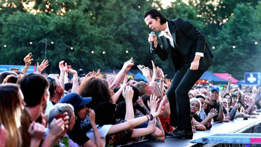 Nick Cave live auf der Bühne beim All Points East im Victoria Park am 3. Juni 2018 in London, England.  (Photo by Gus Stewar