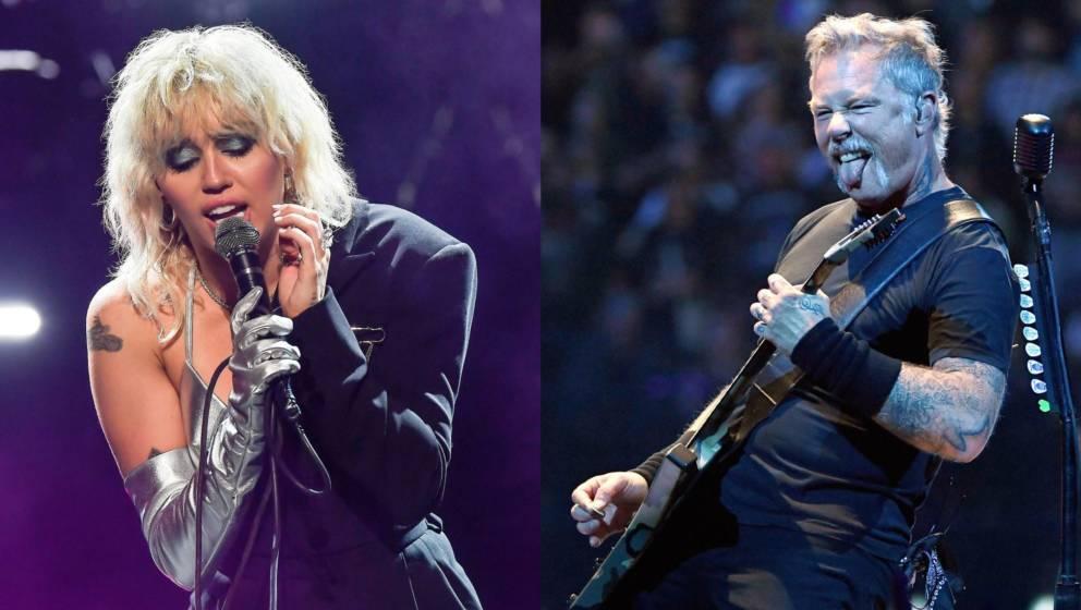 Miley Cyrus und James Hetfield von Metallica
