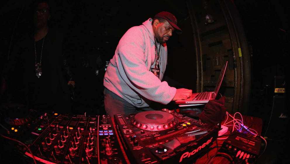 NEW YORK, NEW YORK - APRIL 04:  DJ Afrika Bambaata performs at the Black Rock Coalition Presents: All The Woo In The World--A