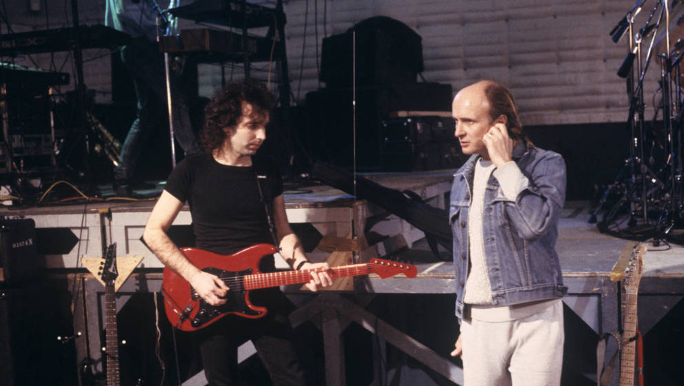 Mick Brigden (re.) mit Joe Satriani