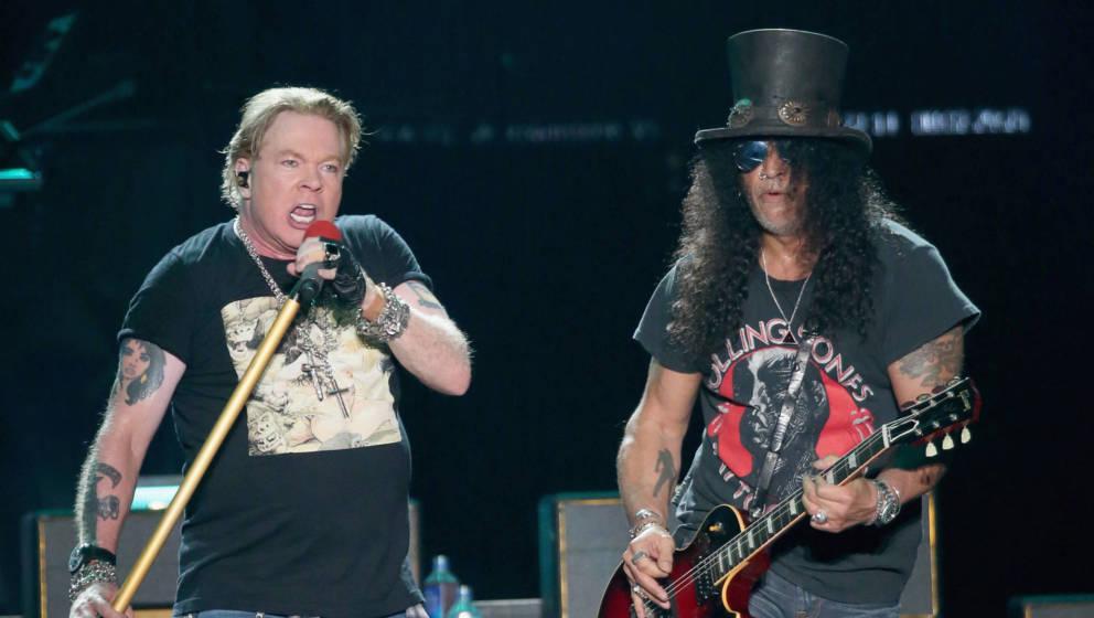 Axel Rose und Slash von Guns N' Roses beim 2019 ACL Fest im Zilker Park am 4. Oktober 2019 in Austin, Texas.  (Photo by Gary