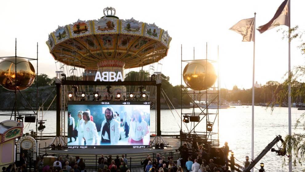 """ABBA feiern ihre """"Superfans"""" in Stockholm, Schweden."""