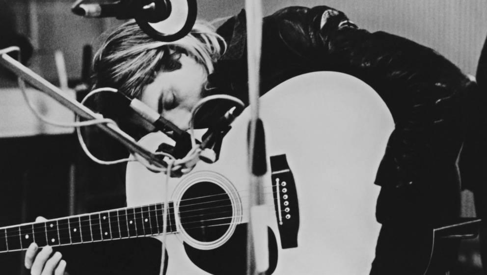 Kurt Cobain im Studio