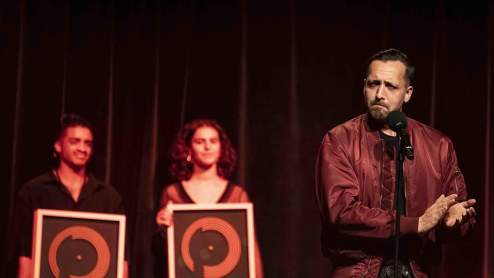 Danger Dan auf der Bühne für den «Preis für Popkultur».