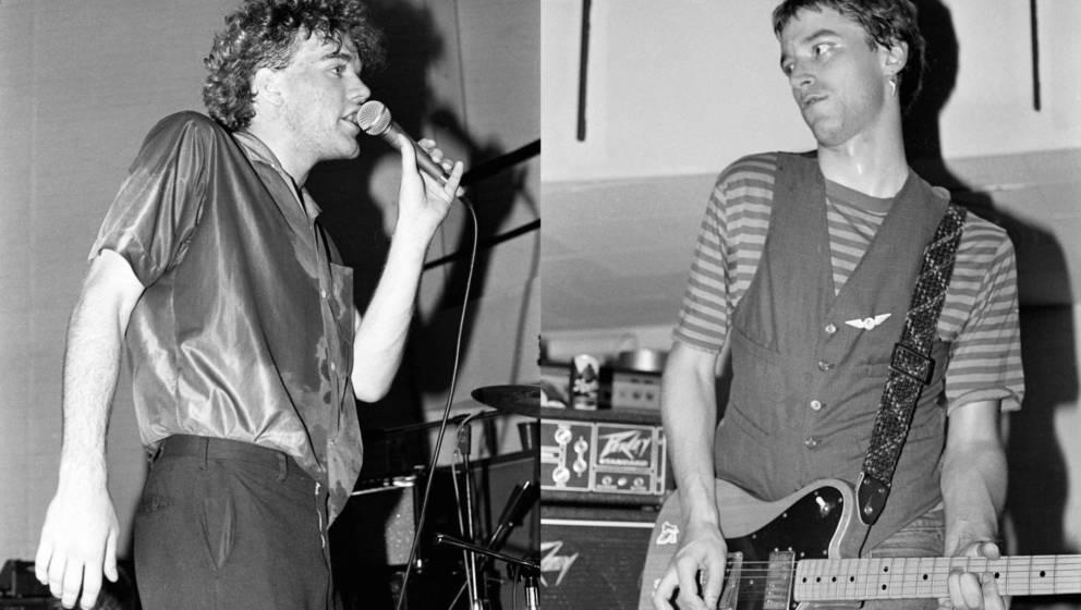 Michael Stipe und Peter Buck von R.E.M. live 1980