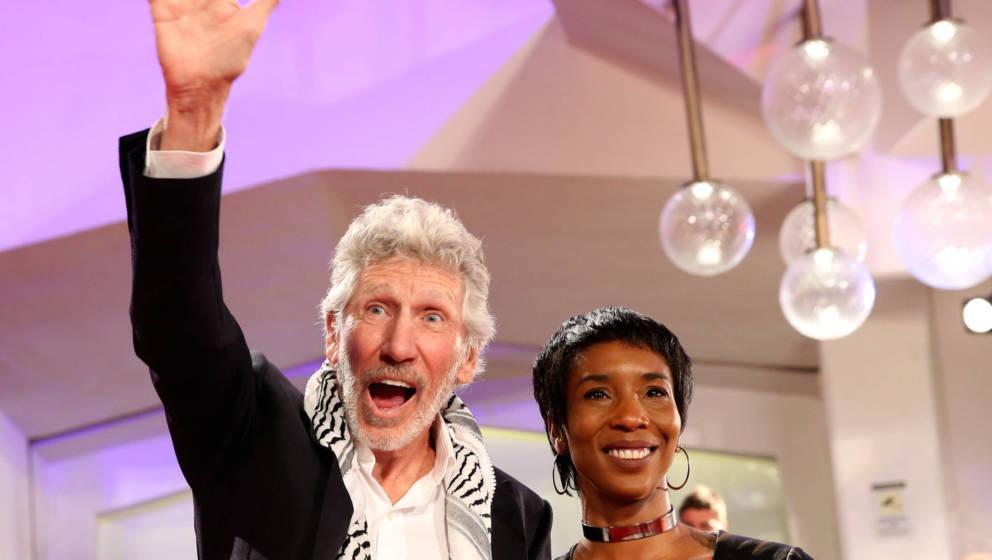 Roger Waters mit seiner Ehefrau Kamilah Chavis
